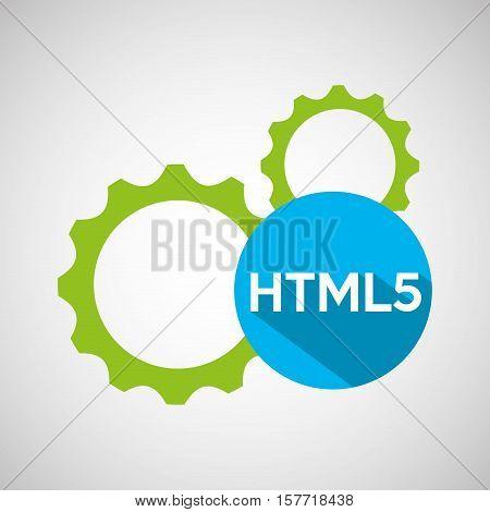 web development gears html5 vector illustration eps 10