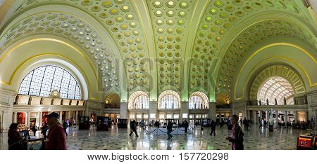 Union Station Architecture Interior Washington Dc November 2016