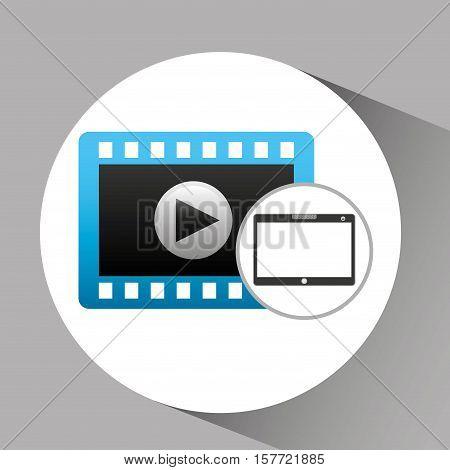 touchpad digital video strip vector illustration eps 10