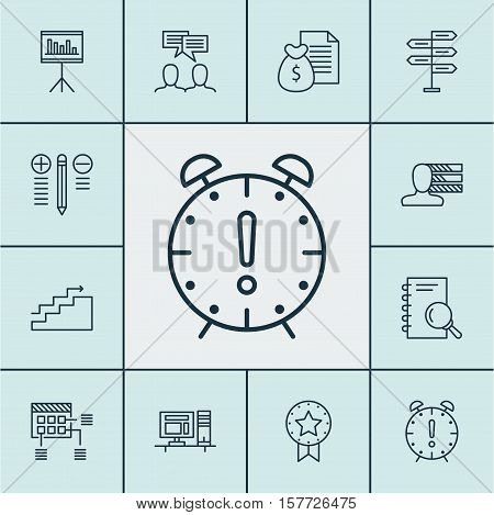 Set Of Project Management Icons On Decision Making, Computer And Personal Skills Topics. Editable Ve