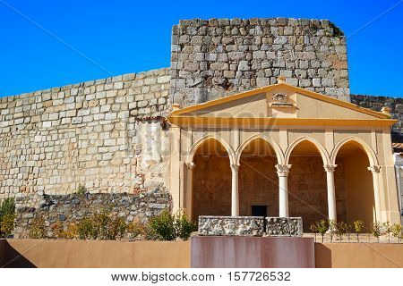 Merida Alcazaba portico in Spain Badajoz Extremadura by via de la Plata way