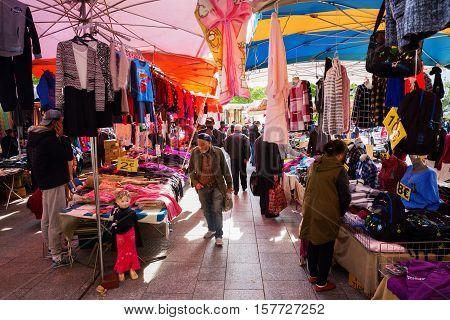 Street Market In Belleville, Paris, France