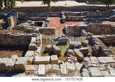 Merida Alcazaba in Spain Badajoz Extremadura by via de la Plata way