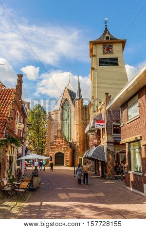 Pictureseque Shopping Street In Enkhuizen, Netherlandspictureseque Shopping Street In Enkhuizen, Net