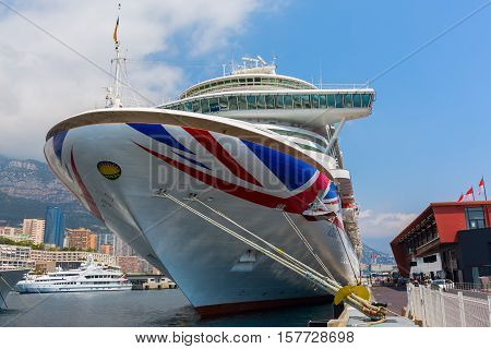 Cruise Ship Mv Azura In The Port Of Monaco