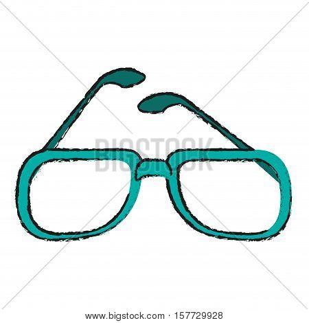 Glasses icon. Fashion style accessory eyesight and lens theme. Isolated design. Vector illustration