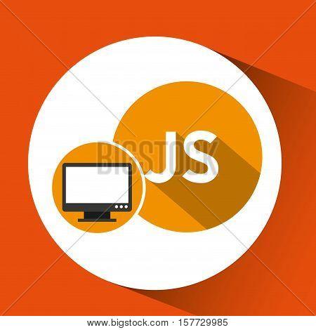 web development computer js language vector illustration eps 10