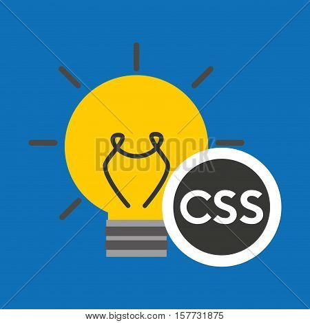 idea code web program css vector illustration eps 10