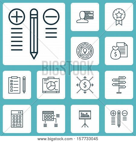 Set Of Project Management Icons On Reminder, Personal Skills And Schedule Topics. Editable Vector Il