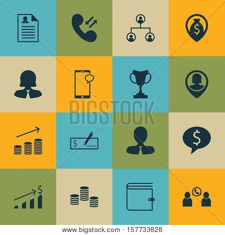Set Of Management Icons On Bank Payment, Money Navigation And Coins Growth Topics. Editable Vector I