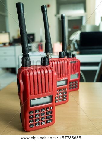 Used in the factory Radio communication , Color Red