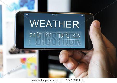 Weather Report Forecat Temperature Concept