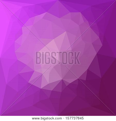 Low polygon style illustration of an eminence violet abstract geometric background.