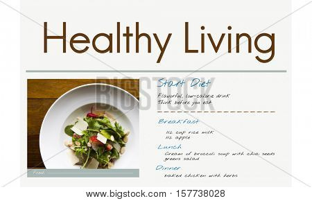 Diet Plan Healthy Living Concept