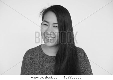 Asian Woman Beautiful Look Concept