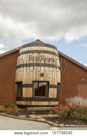 Four Roses Sign On Barrel
