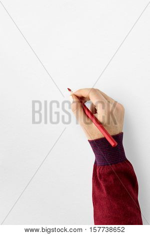 Blank Space Paper Pencil Concept