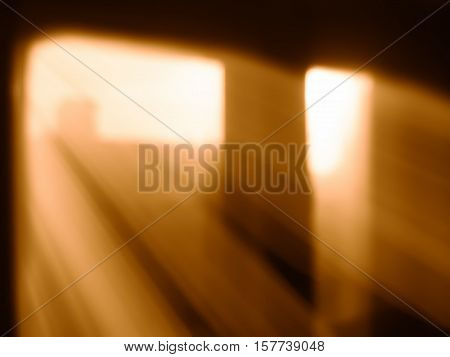 Diagonal rays of light from windows bokeh background hd