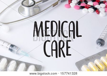 Medical Service Medicine Doctor Hand Holding  Working Surgery, Medicine And People Doctor Using A Di
