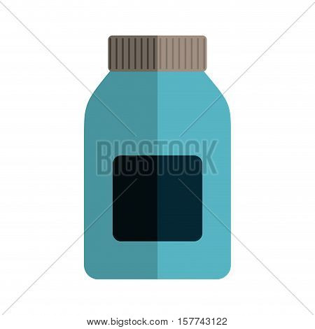 remedy wide bottle with tap and label vector illustration