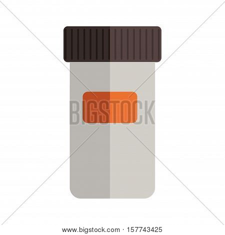 remedy bottle with tap and small label vector illustration