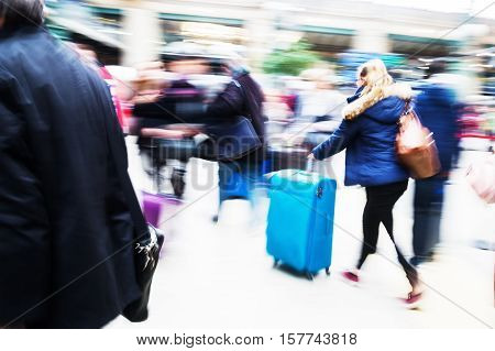Traveling People At The Railway Station