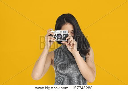 Asian Woman Cheerful Portrait Concept