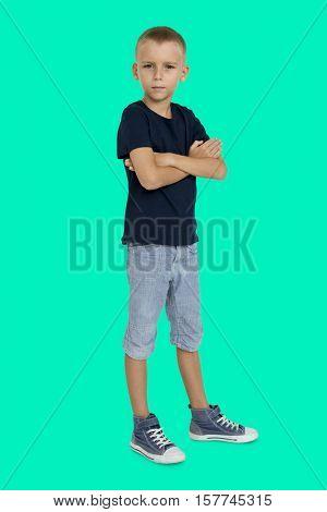 Little Boy Confidence Self Esteem Portrait Concept