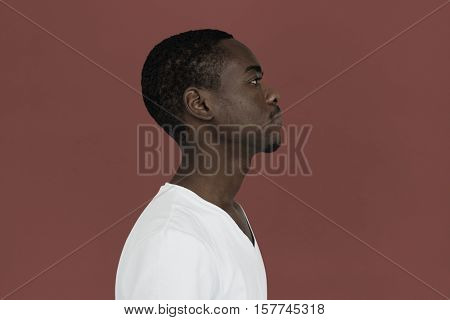 African Male Serious Look Concept