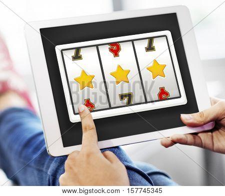 Online Casino Luck Concept