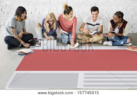 Layout Arrangement Creative Design Organization Concept