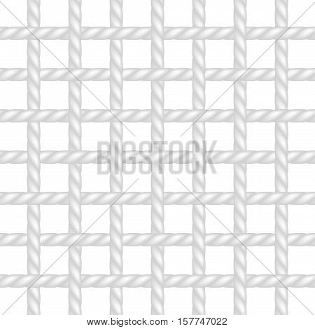 Net of rope in white design on white background