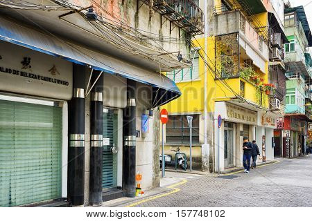 Streets Of The Historic Centre Of Macau