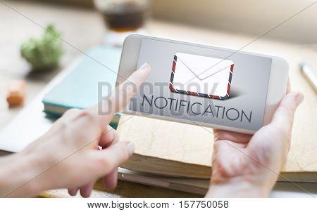 Notification Smart phone Connection Concept