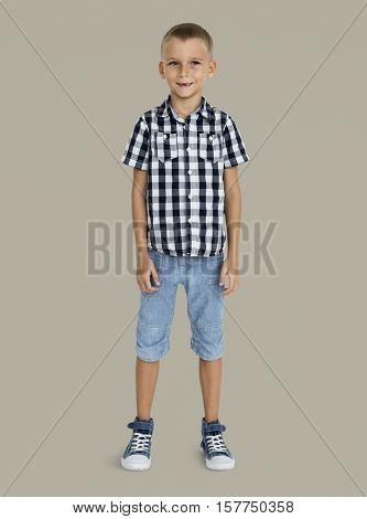 Little Boy Smiling Happiness Portrait Concept