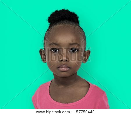 Little Girl Studio Portrait Concept