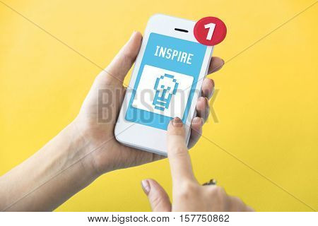 Fresh Ideas Inspire Thinking Vision Graphic Concept