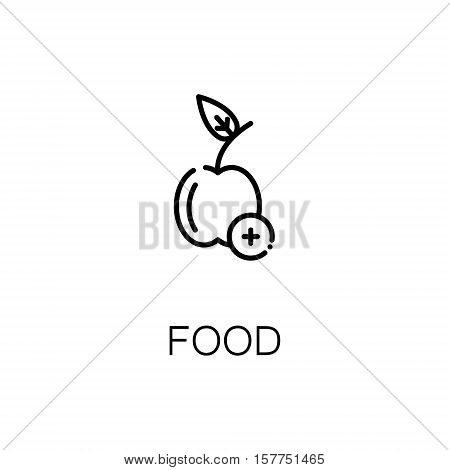 Apple flat icon. Single high quality outline symbol of fruit for web design or mobile app. Thin line signs of apple for design logo, visit card, etc. Outline pictogram of apple.