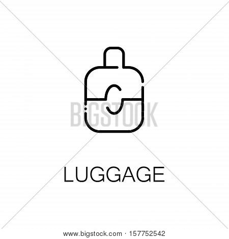 Luggage flat icon. Single high quality outline symbol of luggage for web design or mobile app. Thin line signs of travel for design logo, visit card, etc. Outline pictogram of luggage