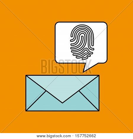 finger print email icon design vector illustration eps 10