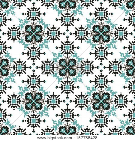 Vector Tribal ethnic seamless pattern. Ideal for printing on to fabric, paper, web design. National background.