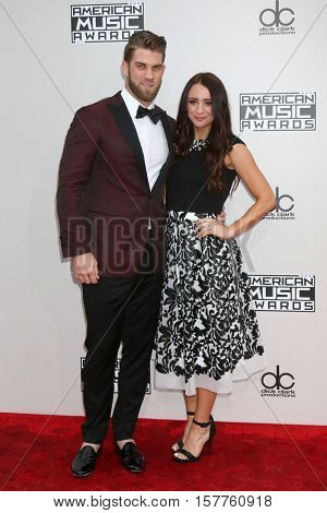LOS ANGELES - NOV 20:  Bryce Harper, Kayla Varner at the 2016 American Music Awards at Microsoft Theater on November 20, 2016 in Los Angeles, CA