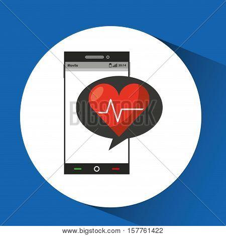 phone online health cardio heart vector illustration eps 10