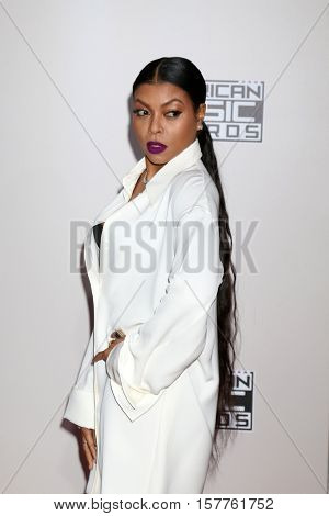 LOS ANGELES - NOV 20:  Taraji P Henson at the 2016 American Music Awards at Microsoft Theater on November 20, 2016 in Los Angeles, CA