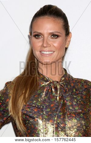 LOS ANGELES - NOV 20:  Heidi Klum at the 2016 American Music Awards at Microsoft Theater on November 20, 2016 in Los Angeles, CA