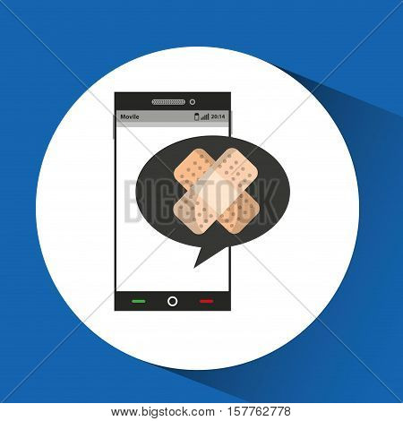 phone online health aid band vector illustration eps 10
