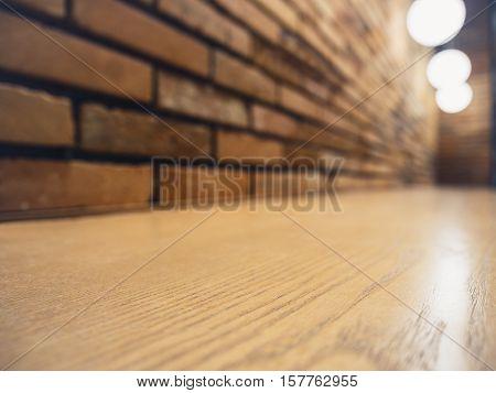 Table top Counter Bar Lights decoration Restaurant Brick wall Hipster Loft Interior
