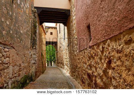Zamora Calle Troncoso street arch in Spain