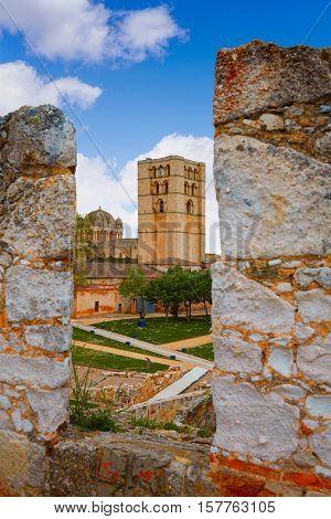 Zamora the castle El Castillo in Spain by Via de la Plata way to Santiago