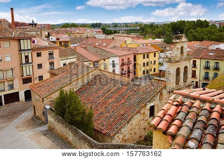 Zamora high angle view roofs in Spain